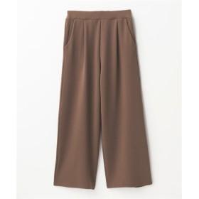 お手入れ簡単♪ふくれジャカードカットソーワイドパンツ (レディースパンツ),pants