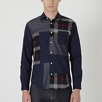 【Crestbridge 】クレストブリッジチェックパッチワークシャツ