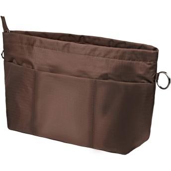 APSOONSELL 薄型 バッグインバッグ 軽量 自立 小物入れ 小さい バックインバック レディース メンズ インナーポケット トート インナーバッグ A4 A5 B5 Organizer Bag in Bag ブラウン S