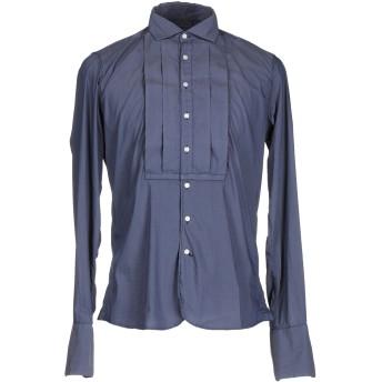 《期間限定セール開催中!》BOGLIOLI メンズ シャツ ブルーグレー 40 コットン 60% / ナイロン 35% / ポリウレタン 5%