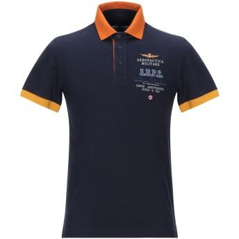 《期間限定セール開催中!》AERONAUTICA MILITARE メンズ ポロシャツ ダークブルー S コットン 92% / ポリウレタン 8%