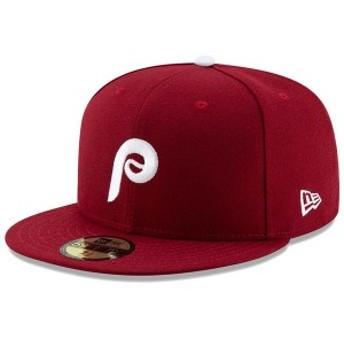 ニューエラ メンズ 帽子 アクセサリー Philadelphia Phillies New Era Alternate 2 Authentic Collection On-Field 59FIFTY Fitted Hat M