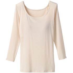 レディース セブンプレミアムライフスタイル ボディヒーター 婦人 カップ付き8分袖シャツ