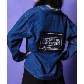 【10%OFF】 べべオンラインストア ライトオンスデニムビッグサイズシャツ レディース ネイビー 150cm 【BEBE ONLINE STORE】 【タイムセール開催中】
