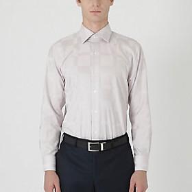 【Crestbridge 】シャドークレストブリッジチェックセミワイドカラーシャツ