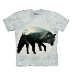 摩達客-美國進口The Mountain 狼中風景 純棉環保短袖T恤