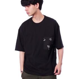 (エイト) 8(eight)音符柄 ビッグTシャツ ブラックL