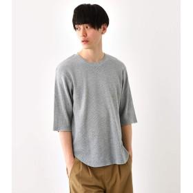 [ロデオクラウンズ ワイドボウル] tシャツ ワッフル 5分袖 Tシャツ 421CSW80-0590 L グレー メンズ