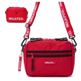 (GALLERIA/ギャレリア)ミルクフェド MILKFED. 2WAY SHOULDER BAG BAR Jr ショルダーバッグ 03192052/レディース レッド 送料無料