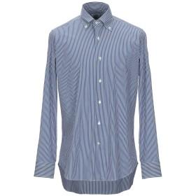 《期間限定 セール開催中》AGHO メンズ シャツ ダークブルー 42 コットン 72% / ナイロン 25% / ポリウレタン 3%