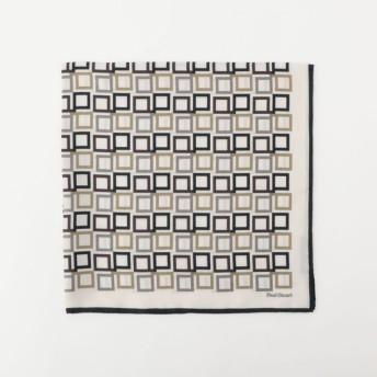 【ポール・スチュアート ウィメン(Paul Stuart WOMEN)】 Pモザイクスカーフ オフホワイト