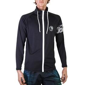 T&C Surf Designs 長袖スタンド ラッシュガード 839103 ブラック LL