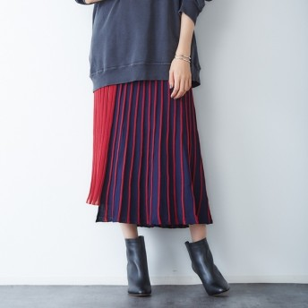 [マルイ] 【2WAY】配色ニットスカート/ルージュ・ヴィフ ラクレ(Rouge vif la cle)
