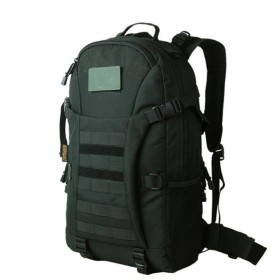 バックパック 旅行アウトドアバッグ多機能防水男性と女性の陸軍ファンバッグ迷彩カジュアルバッグ、ブラック、40 L