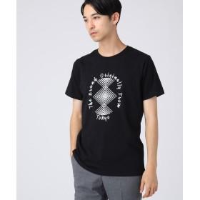 tk.TAKEO KIKUCHI(ティーケー タケオ キクチ) ◆コットン(綿)天竺ネイティブ柄Tシャツ