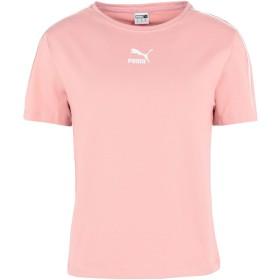 《期間限定セール開催中!》PUMA レディース T シャツ ピンク XS コットン 95% / ポリウレタン 5% Classics Tight Top
