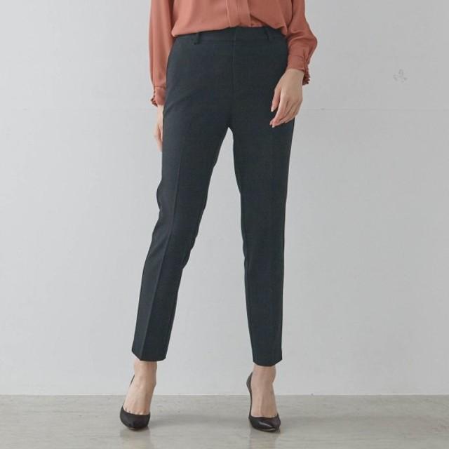 パンツ レディース クロップドパンツ ペタンコ靴でもすっきりはける!エアリーアンクルパンツ 「ブラック」