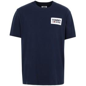 《期間限定セール開催中!》TOMMY JEANS メンズ T シャツ ダークブルー S コットン 100% TJM BACK MULTILOGOS