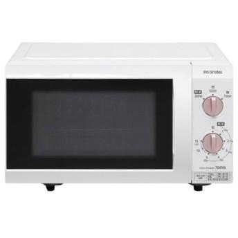 『代引不可』アイリスオーヤマ 電子レンジ フラットテーブル 18L ピンクゴールド IMB-F184-5-WPG