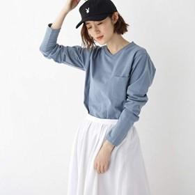 ベース ステーション(レディス)(BASE STATION Ladies) 長袖 Tシャツ Vネック WEB限定 11251【ライトブルー(091)/01(S)】