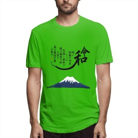 CX_T-shirt 令和 れいわ Tシャツ メンズ 半袖 ゆったり 五分袖 半 薄 令和 新年号 万葉集 流行 Green XL