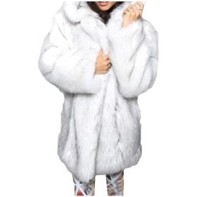 GodeyesW 女性プラスサイズ偽毛皮カーディガンは、下着アウターコートオーバー 2 XS