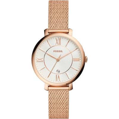 FOSSIL Jacqueline 羅馬佳人時尚米蘭帶女錶-36mm ES4352