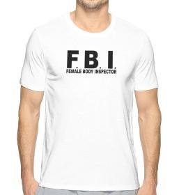 FBI女性の身体 Tシャツ メンズ 半袖 夏 薄手 吸汗速乾 汗染み防止 快適な おもしろ おしゃれ