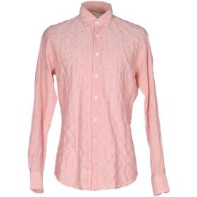 《期間限定セール開催中!》GLANSHIRT メンズ シャツ ピンク 40 コットン 98% / ポリウレタン 2%