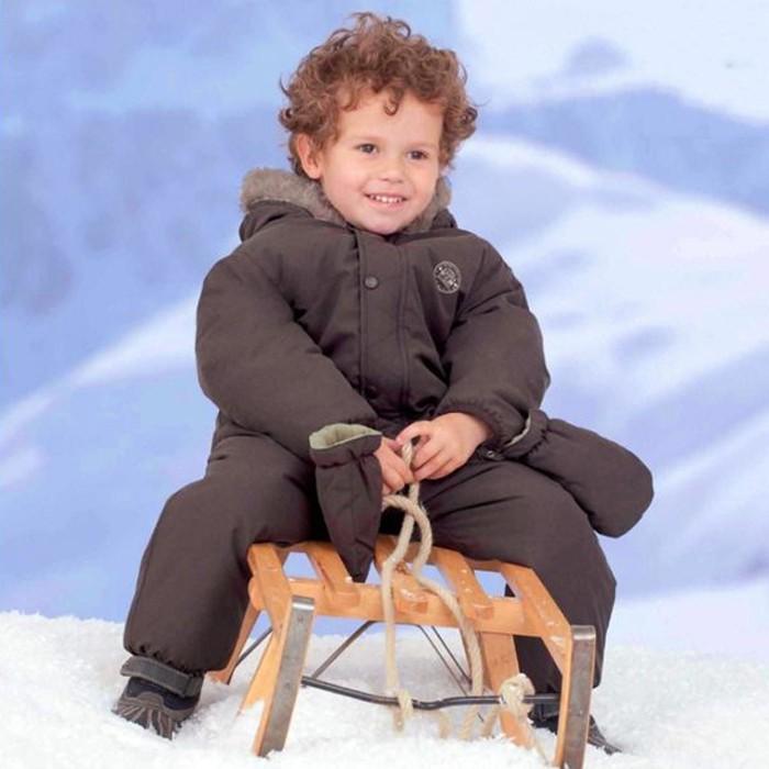連帽棉絨厚款連身衣 雪衣 防潑水 防風 滑雪 橘魔法 baby magic 【p0061149253959】