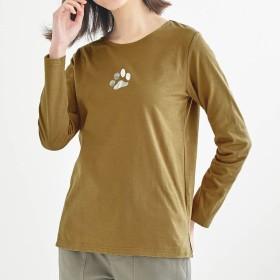 コットン100%プリント長袖Tシャツ