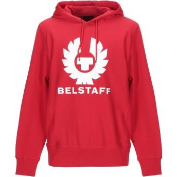 《期間限定セール開催中!》BELSTAFF メンズ スウェットシャツ レッド M コットン 100%