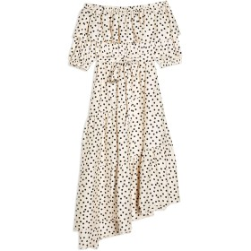《期間限定 セール開催中》TOPSHOP レディース ロングワンピース&ドレス アイボリー 6 ポリエステル 100% SPOT BARDOT DRESS