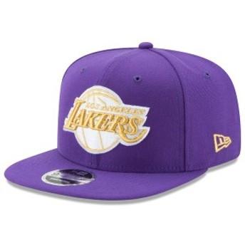 ニューエラ メンズ 帽子 アクセサリー Los Angeles Lakers New Era City Original Fit 9FIFTY Snapback Adjustable Hat Purple/Gold