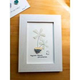 シーグラスアート flower