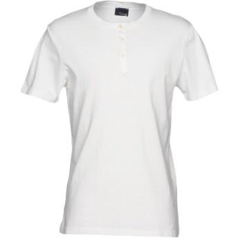 《セール開催中》(+) PEOPLE メンズ T シャツ アイボリー S コットン 100%