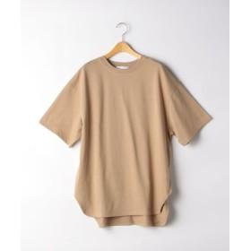 (green label relaxing/グリーンレーベルリラクシング)CFC テンジク オーバーサイズ Tシャツ/レディース BEIGE 送料無料