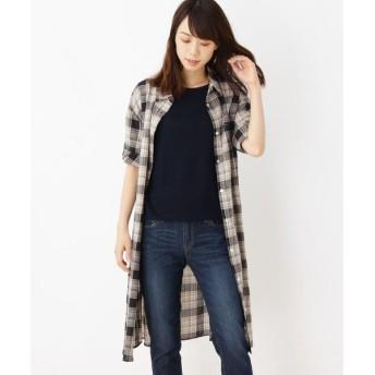 SHOO・LA・RUE / シューラルー 綿チェックシャツワンピース