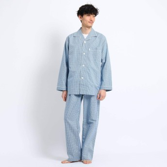 (タケオキクチ) TAKEO KIKUCHI ロゴギンガムパジャマ G8706964 03(L) ブルー(092)