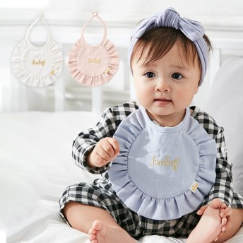 日本製 よだれかけ niva コットンリネンベビービブ 新生児 お食事エプロン エプロン 可愛い ベビー服 おしゃれ スタイ 赤ちゃん キッズ 出産祝い