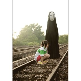 Halloweenハロウィン コスチューム カオナシ お面 鬼 ダンスパーティー コスチューム衣装 仮装 コスプレ鬼 カオナシ お面