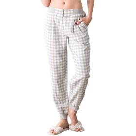 Zhhlinyuan 良質 レディーズ Lattice Printing Casual Trousers Adult Comfortable Cotton Pajama Pants