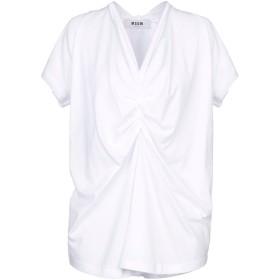 《9/20まで! 限定セール開催中》MSGM レディース T シャツ ホワイト XS コットン 100%