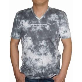 ニコル セレクション NICOLE selection 半袖 Tシャツ Vネック タイダイ sj 8266 メンズ (48(L))