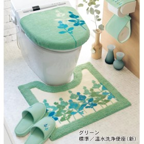 華やかプリントのトイレマット・フタカバー(単品・セット)