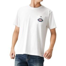 Navy(ネイビー) NAVY JEANS オルテガ柄刺繍Tシャツ 半袖Tシャツ クルーネック 92-7224P-VM メンズ ホワイト:S