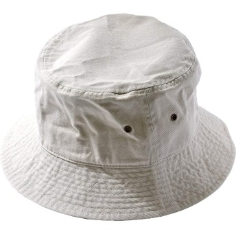 (ニューハッタン) NEWHATTAN CLASSIC BUCKET HAT クラシック バケットハット 無地 シンプル (L/XL, putty) [並行輸入品]