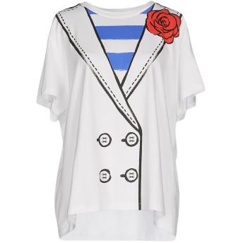 《9/20まで! 限定セール開催中》BOUTIQUE MOSCHINO レディース T シャツ ホワイト 42 コットン 100%