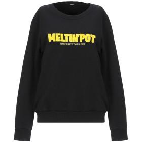 《期間限定セール開催中!》MELTIN POT レディース スウェットシャツ ブラック S コットン 100%