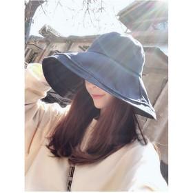Sotia UVカット 帽子 レディース つば広 おしゃれ 可愛い ハット 紫外線対策 花粉対策 旅行用 防寒 日よけ 女優帽 小顔 UV対策 (ブラック)